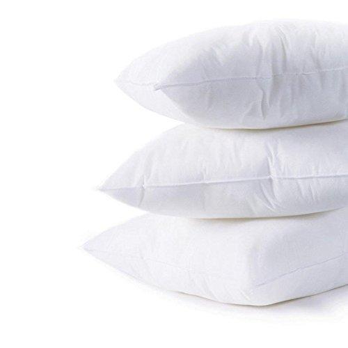 "IZO All Supply Square Sham Stuffer Hypo-Allergenic Poly Pillow Form Insert, 18\"" L x 18\"" W (4 Pack)"