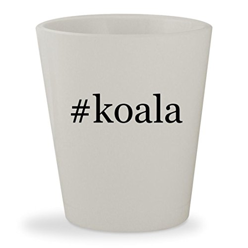#koala - White Hashtag Ceramic 1.5oz Shot - Baby Changing Bear Koala Stations