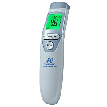 Amplim Hospital Medical Grade Non Contact Scientific Infrared Brow Thermometer for Child and Adults, 1701, Serenity