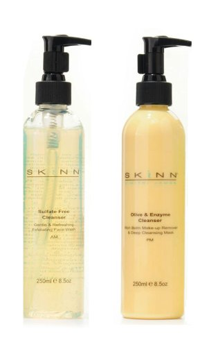 Skinn Cosmetics SUPERSIZE Cleansing System one EACH AM and PM Cleansers
