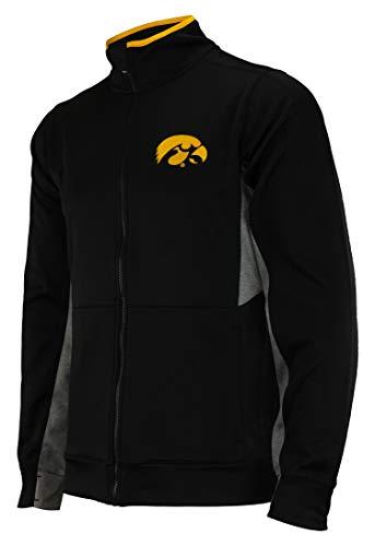 (Outerstuff NCAA Men's First String Full Zip Jacket, Iowa Hawkeyes Large)