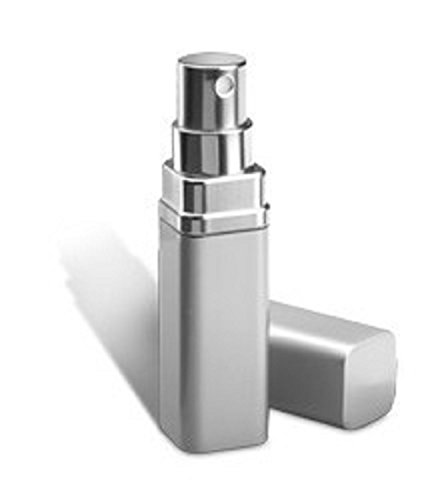 2er Set REFLECTS eleganter Parfümzerstäuber MOTRIL mit Platz für 2x 5 ml Inhalt - perfekt für die Tasche (Gold-Silber) Silber 72Be8w