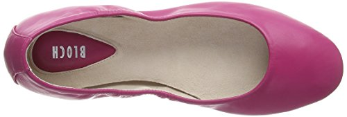 Bloch Arabian Ballerina - talón cerrado de cuero mujer rosa - Pink (Cdp)