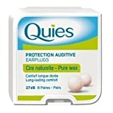 quies wax ear plugs - Quies Earplugs Natural Wax 8 Pairs 27 dB Noise Reduction Barrier Against Noise Pack Of 1 by Quies