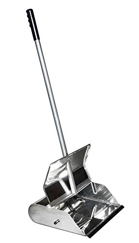 (Ex-Cell Kaiser 306 STAINLESS Stainless Steel Self-Closing Dustpan with Straight Handle, 12