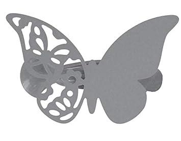 Pince à rideaux (x2) Métal Mariposas Papillons Gris 309493: Amazon ...