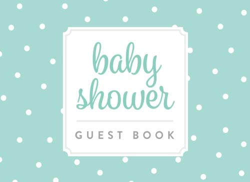 Baby Shower Guest Book: Baby Blue With White Polka Dots ()