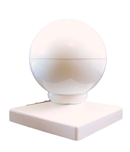 Vinyl Fence Post Cap Ball Dome 4″ White Review