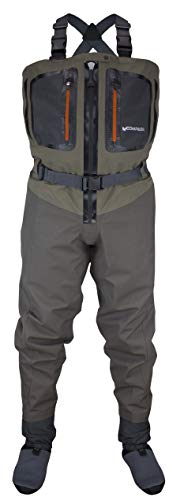 COMPASS 360 Point Guide Z II Zip Front Stft Breathable Chest Waders (XX-Large)