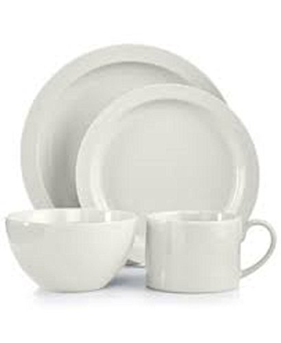 Collection Harlow Talc White Round 4-Piece Place Setting