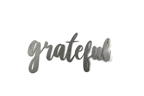 Grateful Small Size Raw Steel Unpainted Word Art