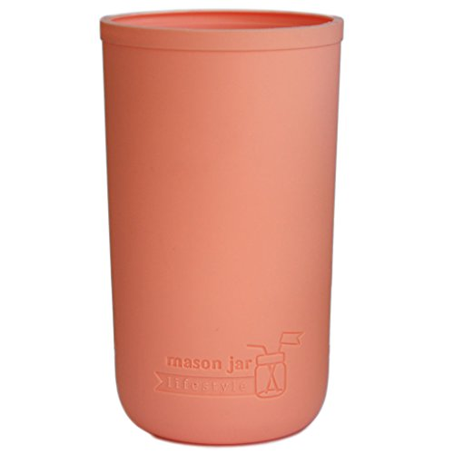 MJL Pint & Half Silicone Sleeve for Ball Mason Jars (Light Coral)