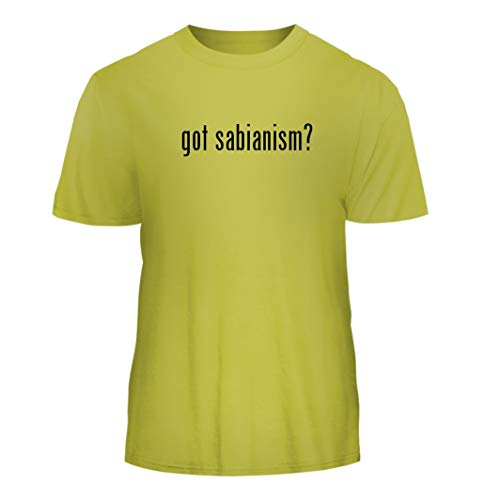 Tracy Gifts got Sabianism? - Nice Men's Short Sleeve T-Shirt, Yellow, Small (Cymbal Ride Sabian Xs20 Crash)