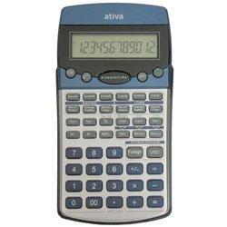 Ativa AT-10 Financial Calculator, Silver/Blu