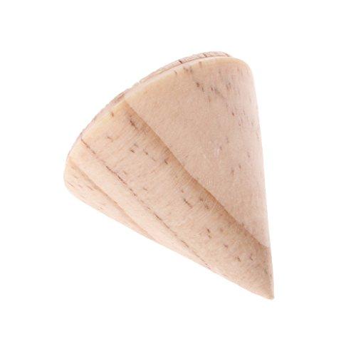 Baosity 15 Pieces/Lot Unpainted Plain Cone Wooden Ring Organizer Rack DIY Handmade 3/5/8cm by Baosity (Image #8)