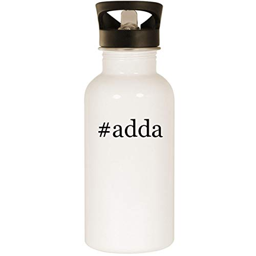 #adda - Stainless Steel Hashtag 20oz Road Ready Water Bottle, White