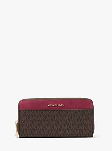 MICHAEL Michael Kors Mercer Logo Continental Wallet, Color Brown/Mulberry by Michael Kors
