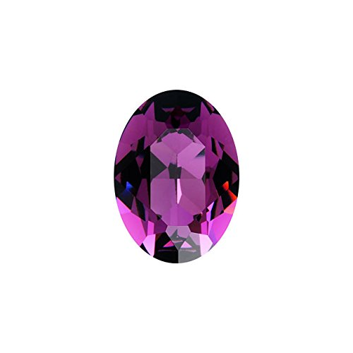 Swarovski Crystal, 4120 Oval Fancy Stones 14x10mm, 1 Piece, Amethyst F