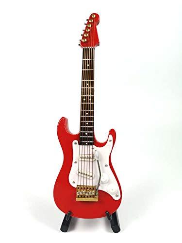 Electric Guitar Decorations (LS Miniature Red Electric Guitar Ornament, Featival Decoration and Holiday Tree Ornament)