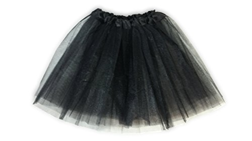 Tutu Ballet Party Dress Skirt for Girls and Toddlers - Ballerina or Princess Dress Up Pretend Play Costume (Black Angel Costume With Tutu)