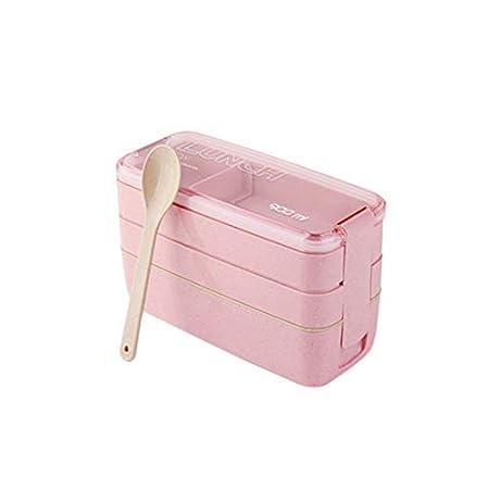 WUYANG 3 Capa Japonesa Bento Box Lunch Box con divisores de ...