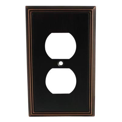 5 Pack - Cosmas 65049-ORB Oil Rubbed Bronze Single Duplex Electrical Outlet Wall Plate/Cover by Cosmas