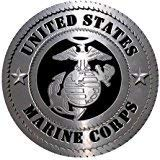 Fashion Mouse Mat United States Marine Corps Logo Customized Round Mousepad