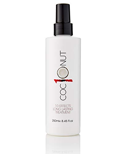 (Coconut Heat Protection Spray, Dry Hair Treatment – 10 Benefits, Anti-Frizz, UV Protection, Add Body, All In One Styling Treatment – 8.45Fl.oz/250ml)