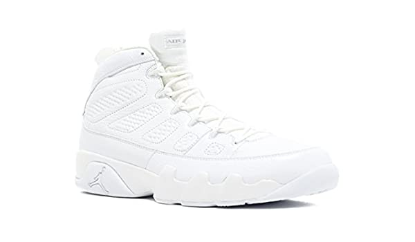 factory price 0fa2a 62d5e Amazon.com   Air Jordan 9 Retro  25Th Anniversary  - 302370-104 - Size 11  White, Metallic Silver   Basketball