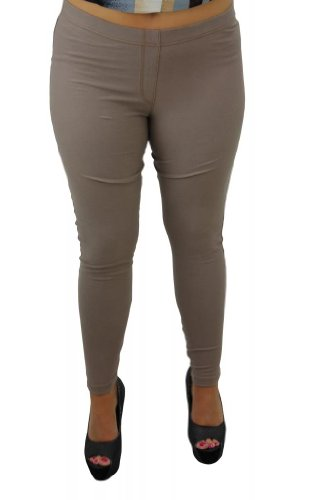 Girltalkfashions Women Long Length Stich Jeggings Plus Size 20 Stone