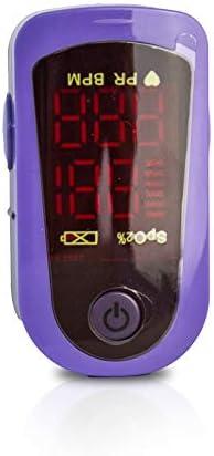 MD300C13, Pulsossimetro da dito, Pulsiossimetro portatile, Saturimetro per Lettura Digitale, Frequenza cardiaca e saturazione di ossigeno(SpO2), Dito monitor ossigeno, Schermo LED, Letture Immediate