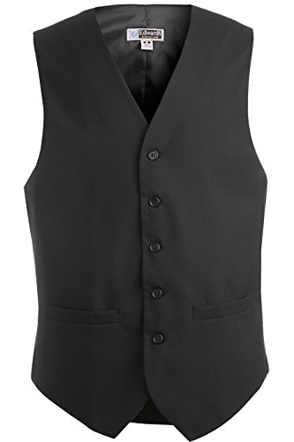 Ed Garment Men'S Pocket Fully Lined Stylish Dress Vest, Charcoal, M R by Edwards Garment