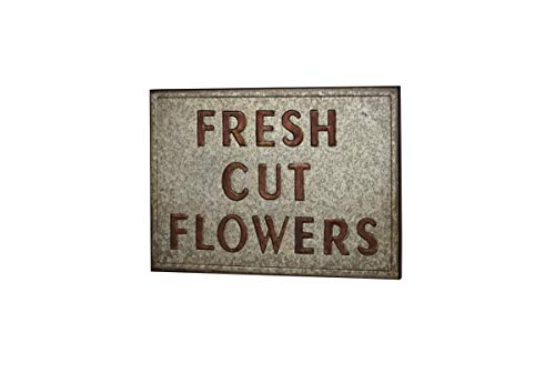 Deco 79 86940 Farmhouse Fresh Cut Flowers Wall Sign, 1