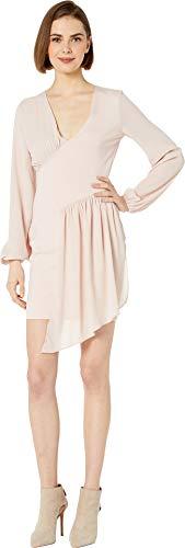 bebe Womens Knit Asymmetrical Drape Dress Sepia Rose SM (Knit Dress Bebe)