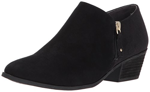 Dr. Scholl's Shoes Women's Brief Ankle Boot, Black Microfiber, 8 W US