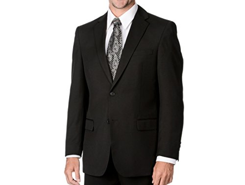 Marco Carelli Men's Black 2-Button Hopsack Blazer (Black, 42 Regular) (Rebound Blazer)