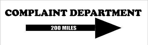 Complaint Department Wall (Complaint department....Funny Family Wall Quote Words Sayings Removable Lettering 8