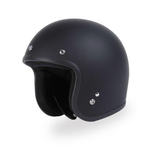 (TORC (T50C Route 66 3/4 Helmet (Flat Black, X-Large) )