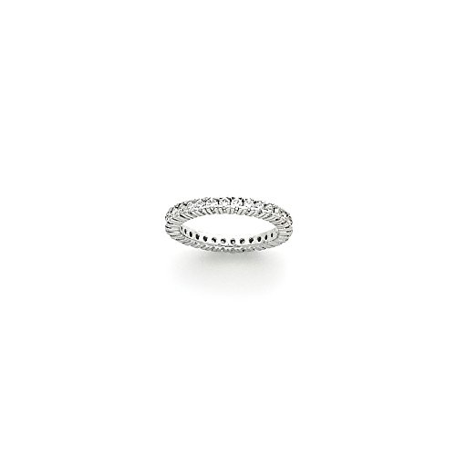 14k White Gold Eternity Band Mounting, Best Quality Free Gift Box - Base Only, No Stones - Eternity Band Mounting