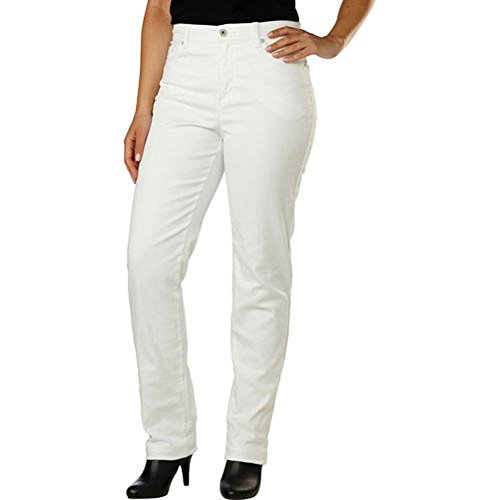 Gloria Vanderbilt Womens Amanda Jeans, Prism White 18 Average (Pants Amanda)