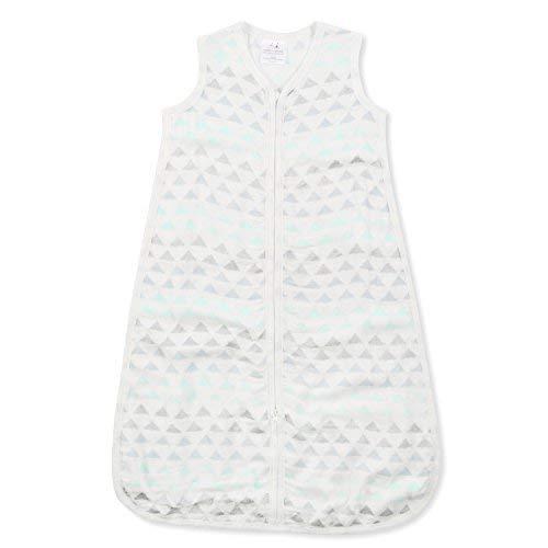 aden + anais Silky Soft Metallic Sleeping Bag; 100% Cotton Bamboo Muslin; Wearable Baby Blanket; Skylight Birch; Medium; 6-12 Months