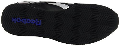 Reebok Royal Cl Jog 2l, Zapatillas de Deporte para Niños Negro (Black / White / Riot Red)
