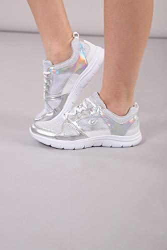 Con Sneaker Metallizzati Mesh Inserti In White zgnxZ0wPq