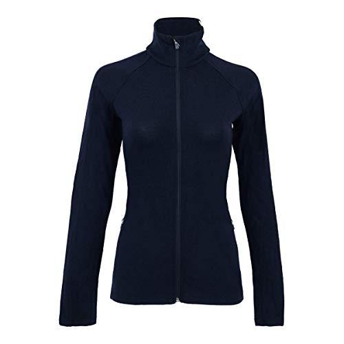 Icebreaker Women's Affinity L/S Full Zip Sweater Top Midnight Navy/Snow S