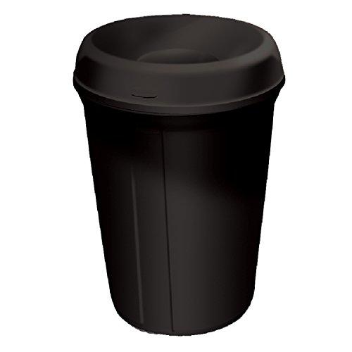 Rubbermaid Commercial FG905800BLA Plastic 35-gallon Classic Atrium Trash Can with Funnel, (Atrium Waste Container)
