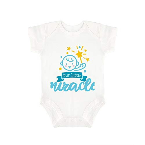 (Promini Cute Baby Onesie Our Little Miracle (2) Baby Bodysuit Infant One Piece Baby Romper Best Gift for Baby White)