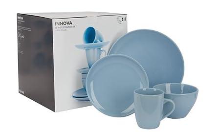 ethos innova 16 piece round ceramic dinner set in gift box pale