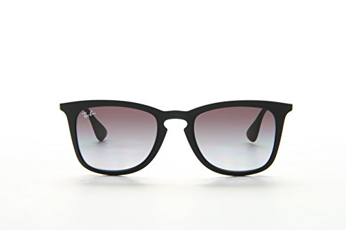 Ray-Ban INJECTED MAN SUNGLASS - RUBBER BLACK Frame LIGHT GREY GRADIENT DARK GREY Lenses 50mm Non-Polarized (Ray Ban Men Glasses)