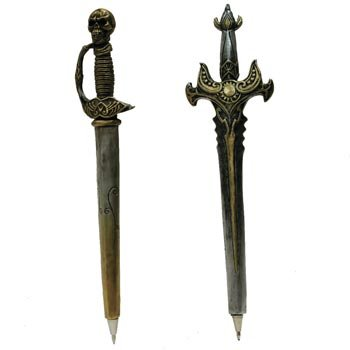 Medieval Sword Collectible Ball-Point Pen, 6-inch (1-pc Random)