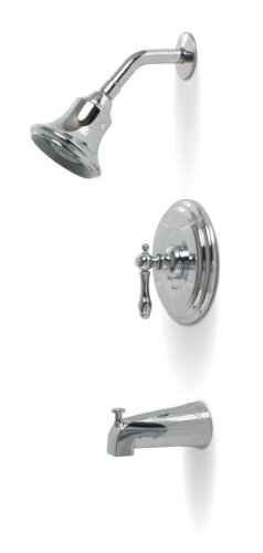PREMIER GIDDS-120353 Charlestown Tub and Shower Faucet with Single Handle, Chrome